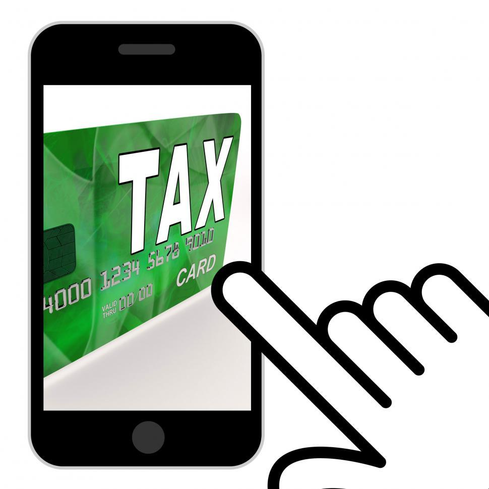 Download Free Stock HD Photo of Tax On Credit Debit Card Displays Taxes Return IRS Online