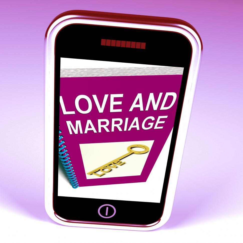 Download Free Stock HD Photo of Love and Marriage Phone Represents Keys and Advice for Couples Online