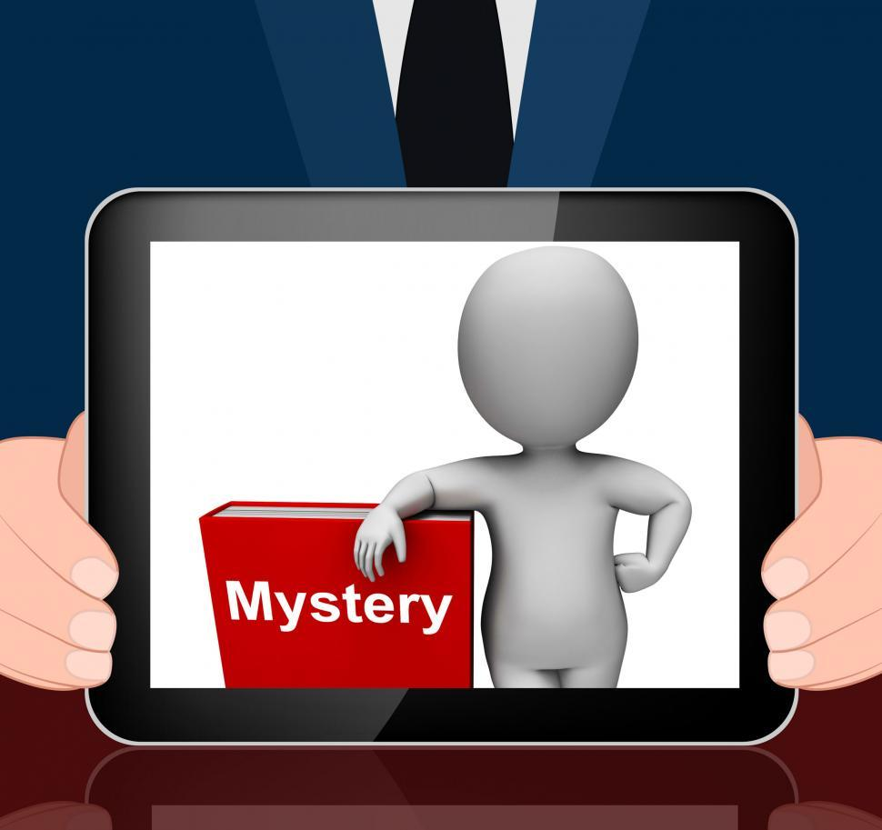 Download Free Stock HD Photo of Mystery Book And Character Displays Fiction Genre Or Puzzle To S Online
