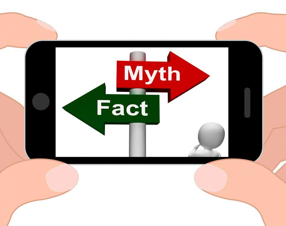 Download Free Stock HD Photo of Fact Myth Signpost Displays Facts Or Mythology Online