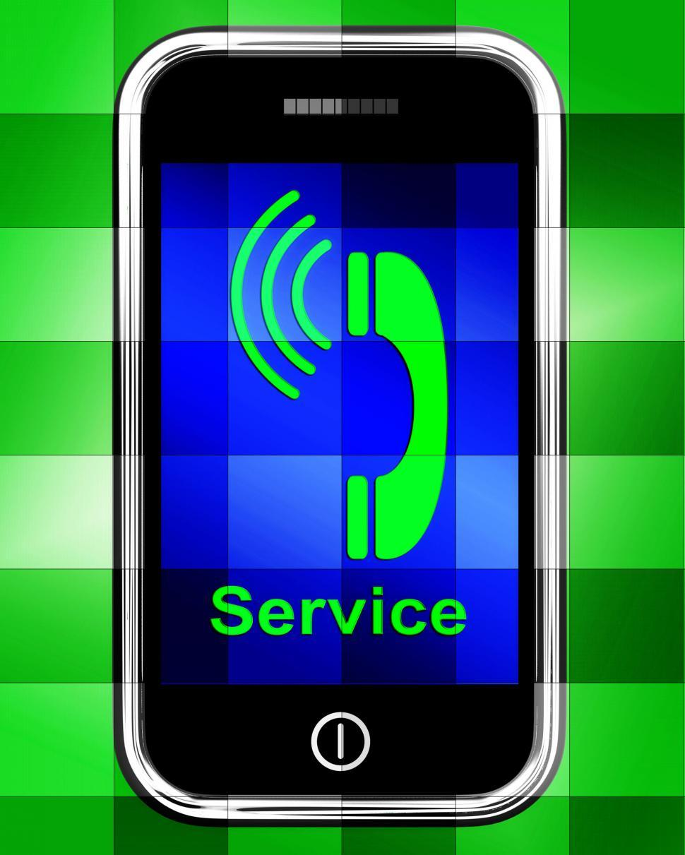 Download Free Stock HD Photo of Service  On Phone Displays Call For Help Online