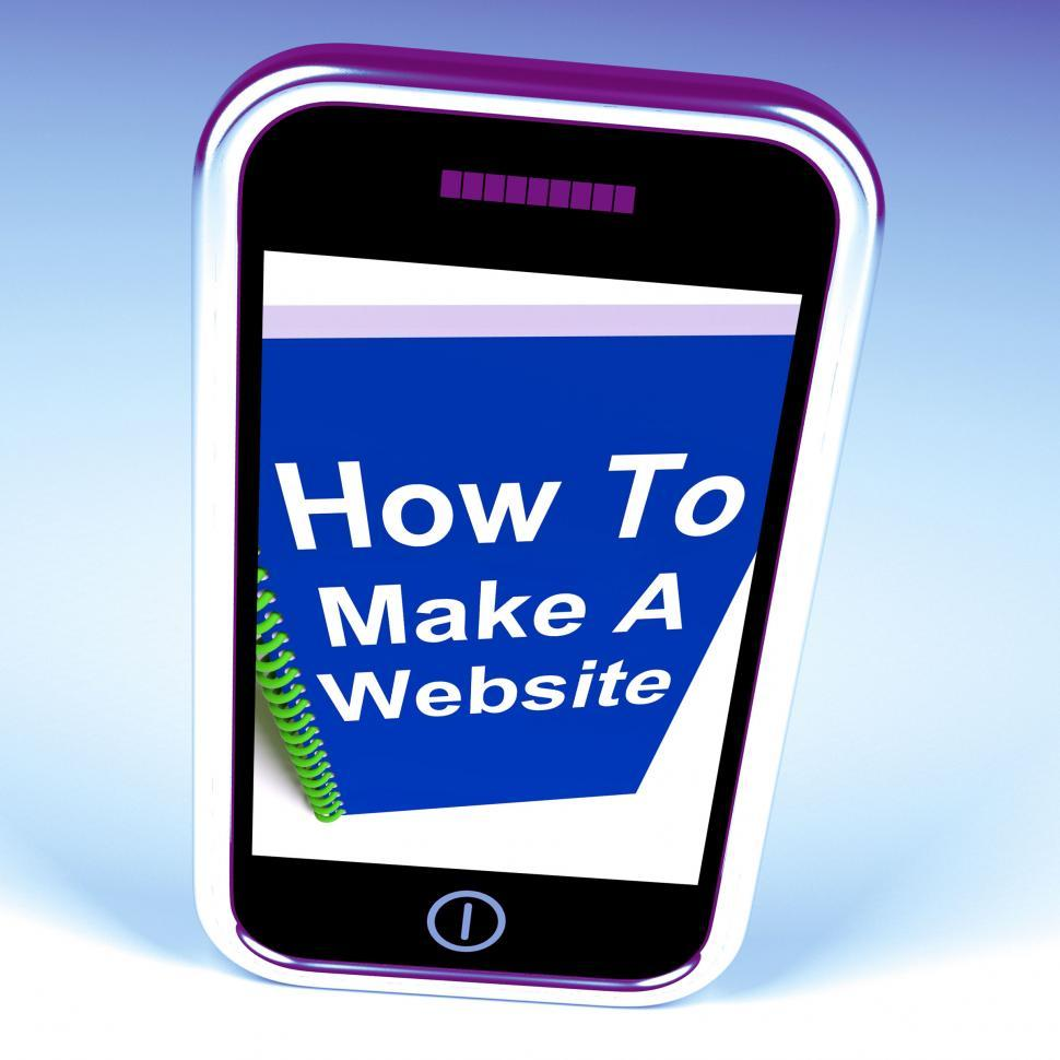 Download Free Stock HD Photo of How to Make a Website on Phone Shows Online Strategy Online