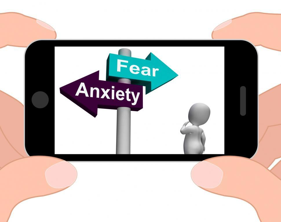 Download Free Stock HD Photo of Fear Anxiety Signpost Displays Fears And Panic Online