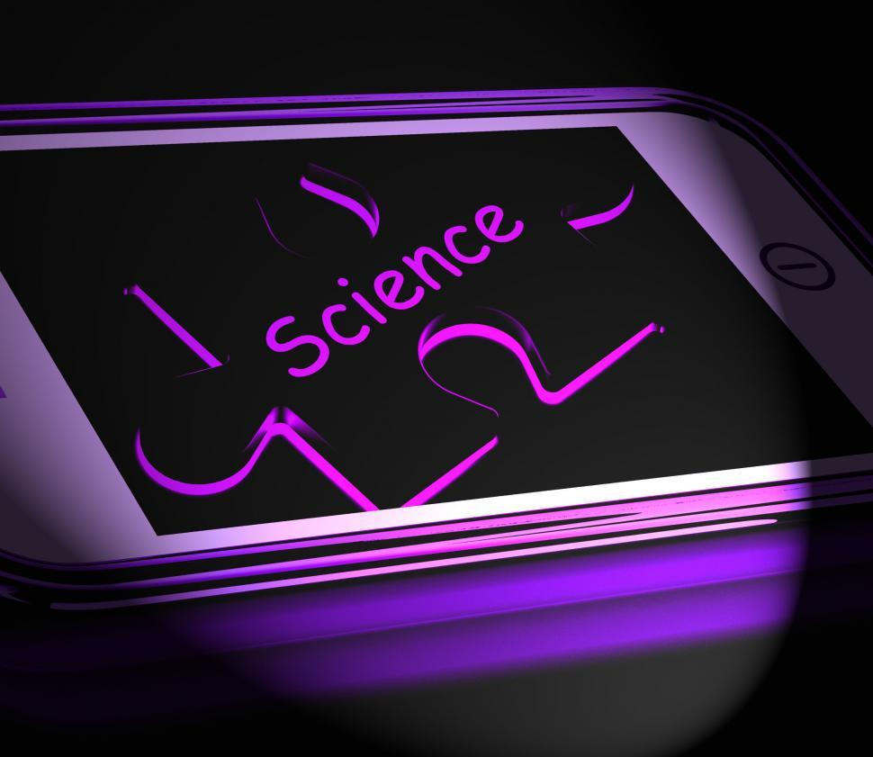 Download Free Stock HD Photo of Science Smartphone Displays Biology Chemistry And Physics Online