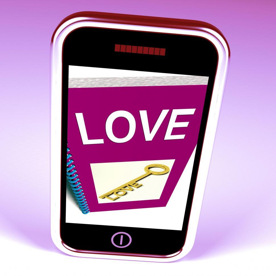 Download Free Stock HD Photo of Love Phone Shows Key to Affectionate Feelings Online