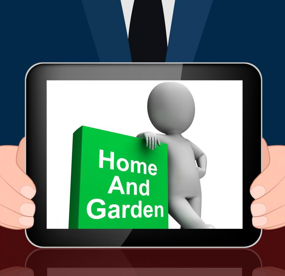 Download Free Stock HD Photo of Home And Garden Book With Character Displays Household And Garde Online