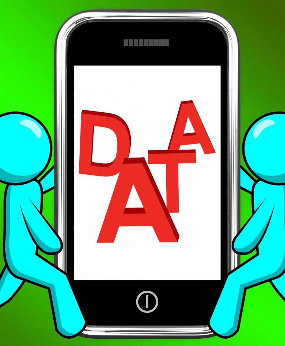 Download Free Stock HD Photo of Data On Phone Displays Facts Information Knowledge Online