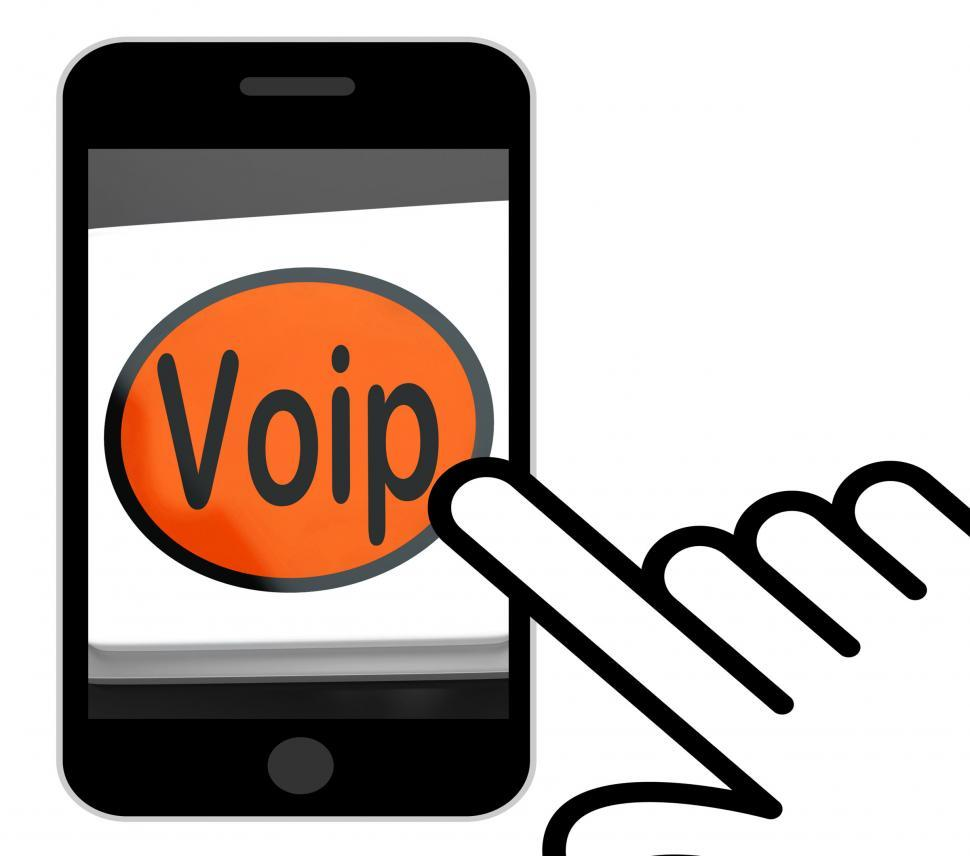 Get Free Stock Photos Of Voip Button Displays Voice Over