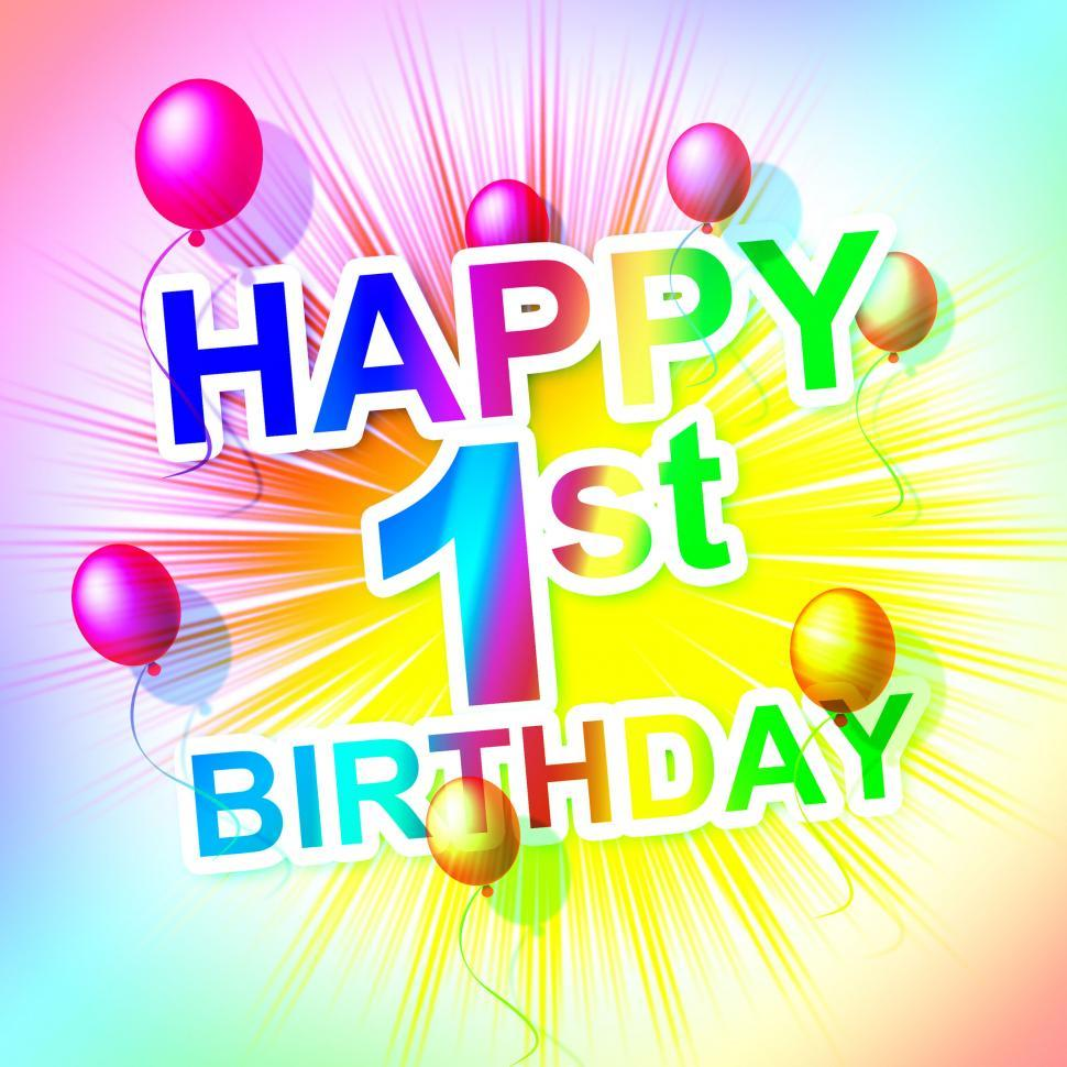Download Free Stock HD Photo of Happy Birthday Represents Congratulation Congratulations And One Online
