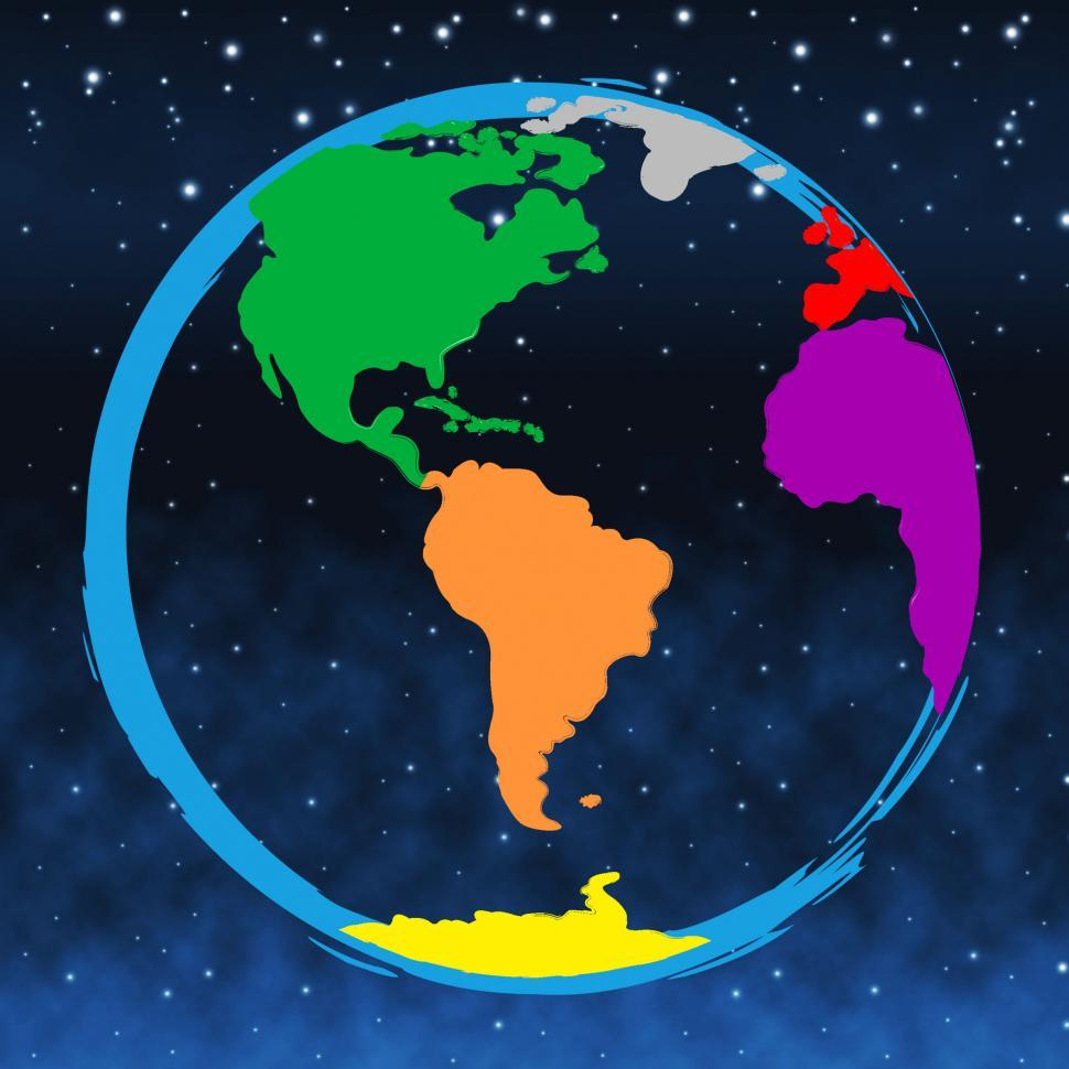 Download Free Stock HD Photo of World Colourful Represents Colours Globalise And Multicolored Online