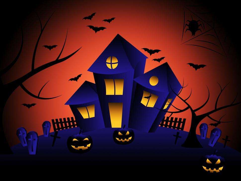 Download Free Stock HD Photo of Haunted House Indicates Trick Or Treat And Autumn Online