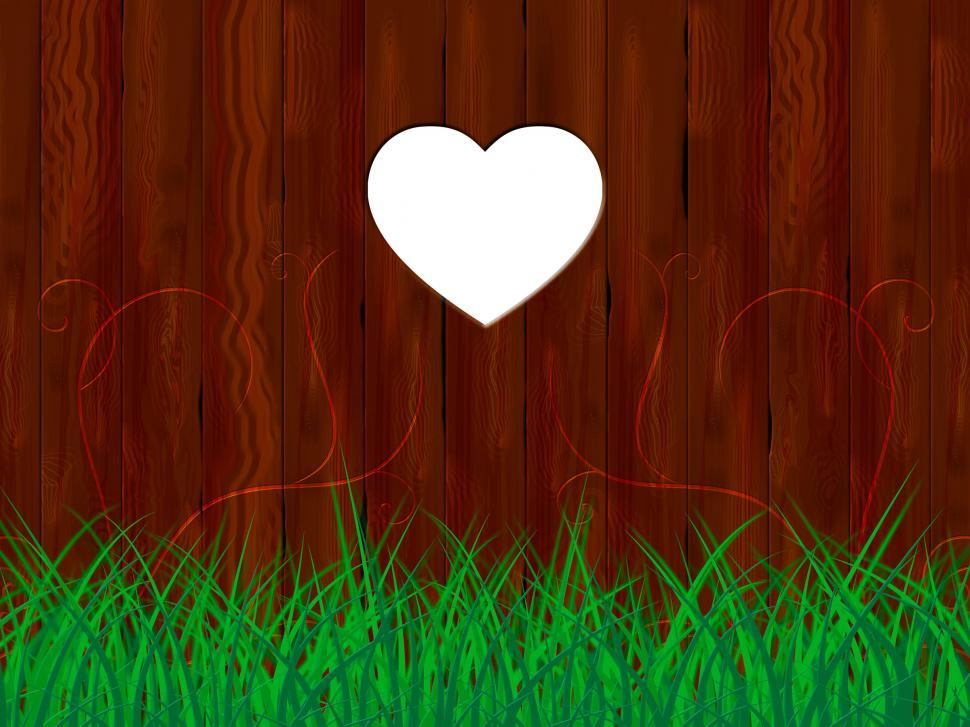 Download Free Stock HD Photo of Grass Nature Represents Heart Shape And Countryside Online