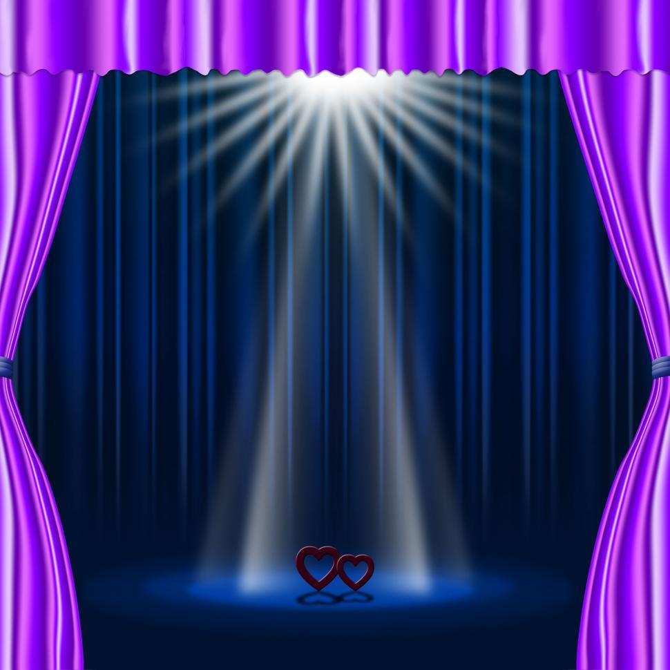 Download Free Stock HD Photo of Hearts Stage Represents Beam Of Light And Broadway Online