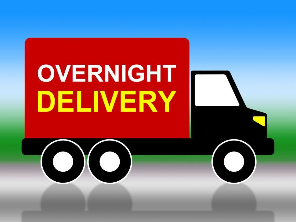 Download Free Stock HD Photo of Delivery Overnight Represents Next Day And Transportation Online