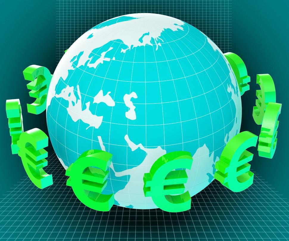 Get Free Stock Photos Of Globe Euros Shows Worldwide Trading And European Online Download