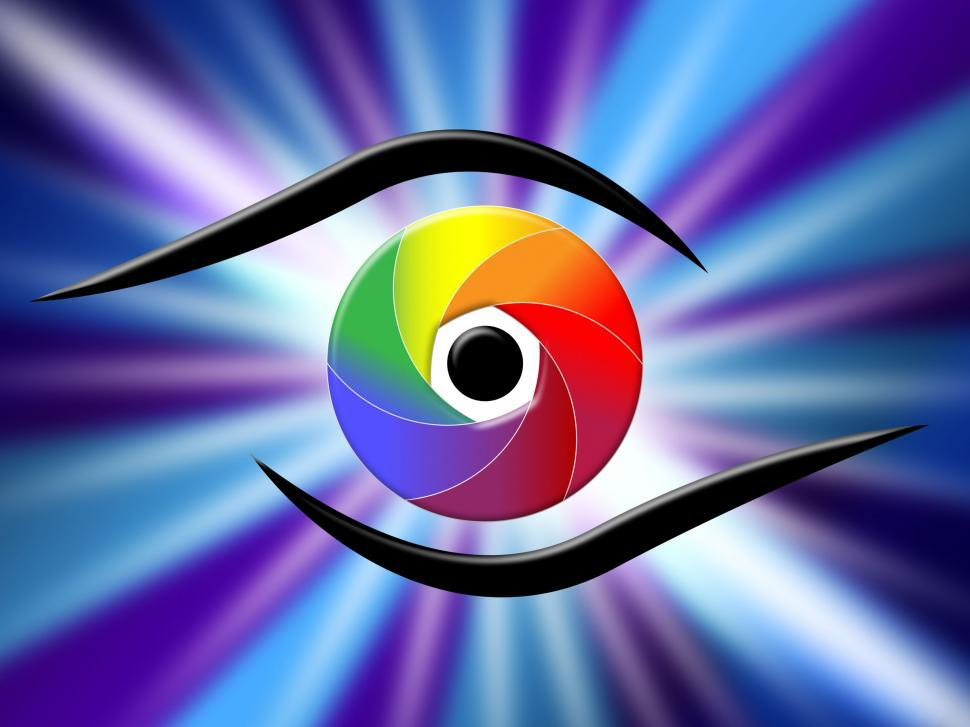 Download Free Stock HD Photo of Eye Aperture Represents Color Guide And Chromatic Online