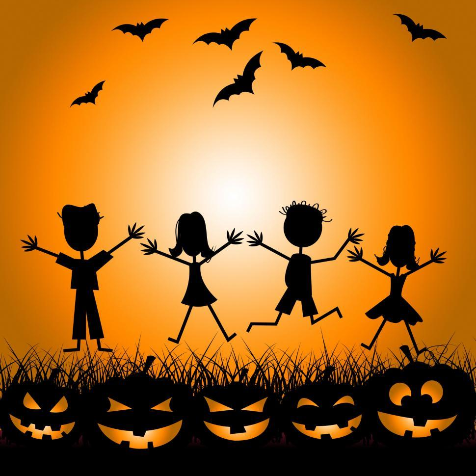 Download Free Stock HD Photo of Halloween Kids Indicates Trick Or Treat And Children Online
