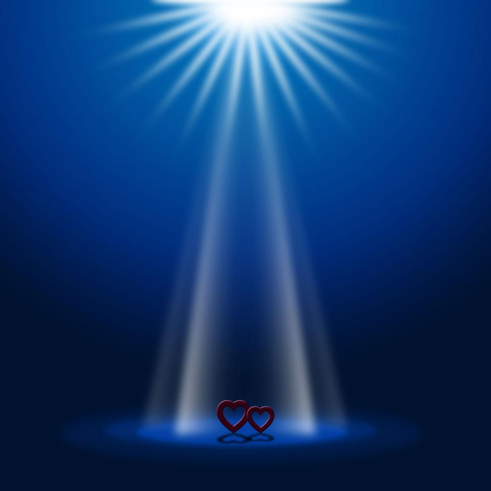 Download Free Stock HD Photo of Hearts Stage Represents Beam Of Light And Glow Online