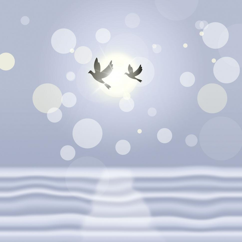 Download Free Stock HD Photo of Doves Landscape Means Bokeh Lights And Birds Online
