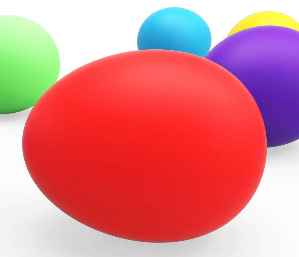 Download Free Stock HD Photo of Easter Eggs Represents Empty Space And Colorful Online