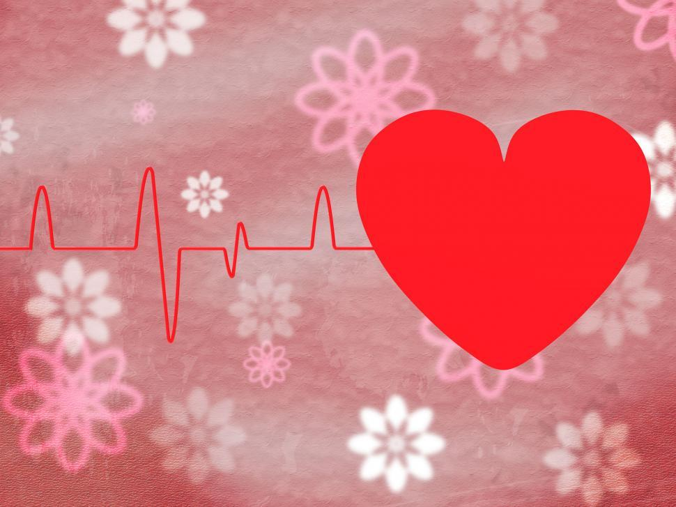 Download Free Stock HD Photo of Heart Pulse Means Text Space And Cardiology Online