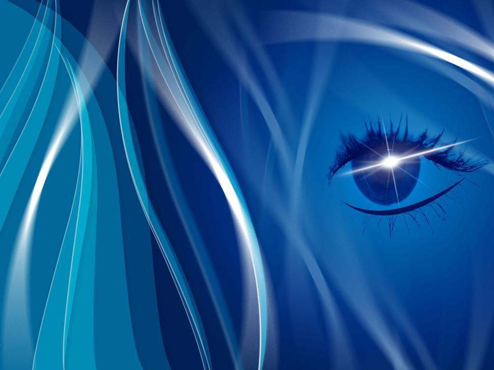 Download Free Stock HD Photo of Blue Background Indicates Human Eye And Look Online