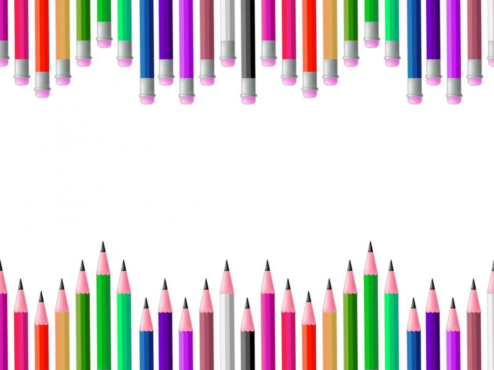 Download Free Stock HD Photo of Pencils School Means Colours Spectrum And Learning Online