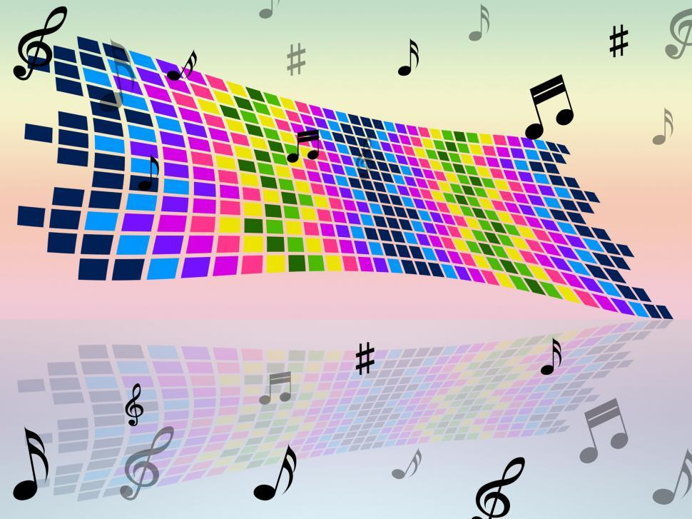 Download Free Stock HD Photo of Notes Color Indicates Sound Track And Artwork Online