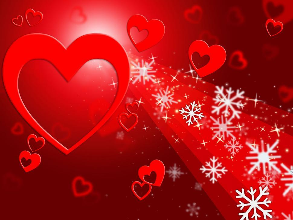 Download Free Stock HD Photo of Hearts Snowflake Means Valentines Day And Congratulation Online