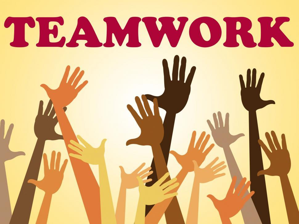 Download Free Stock HD Photo of Teamwork Team Indicates Hands Together And Combined Online