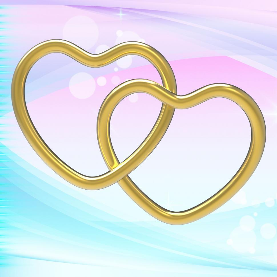 Download Free Stock HD Photo of Wedding Rings Represents Heart Shapes And Eternity Online