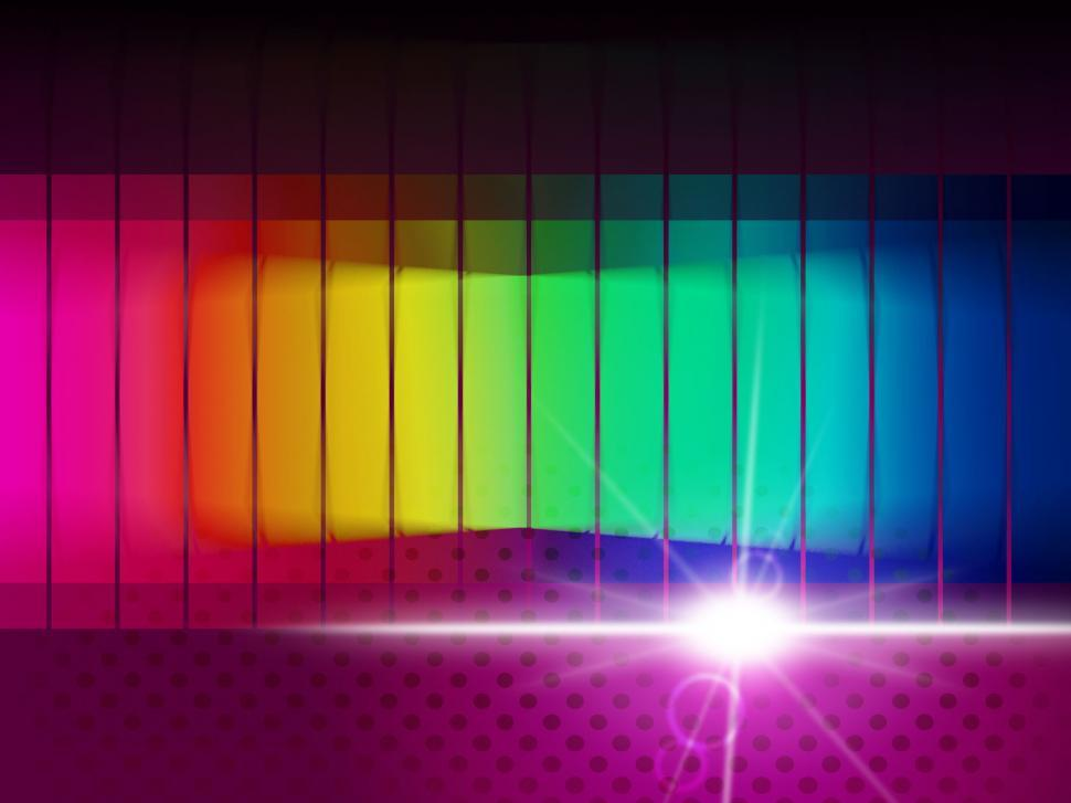 Download Free Stock HD Photo of Glow Spectrum Shows Color Guide And Chromatic Online