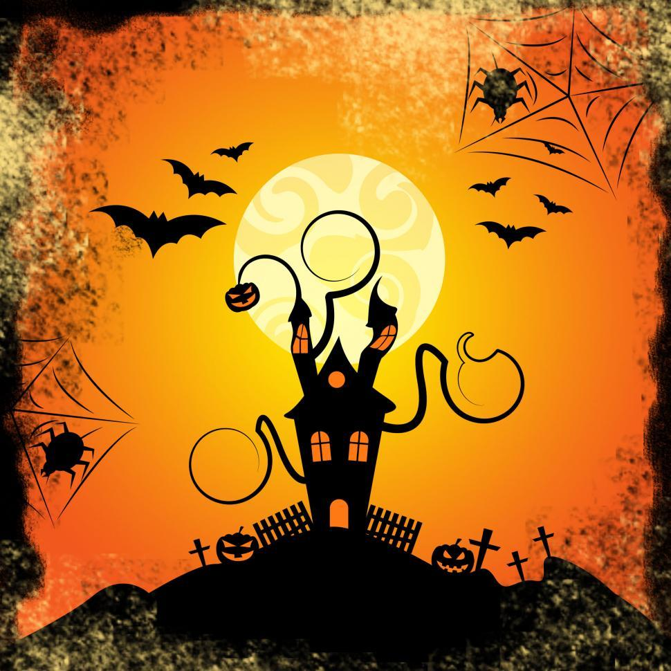 Download Free Stock HD Photo of Haunted House Indicates Trick Or Treat And Bats Online