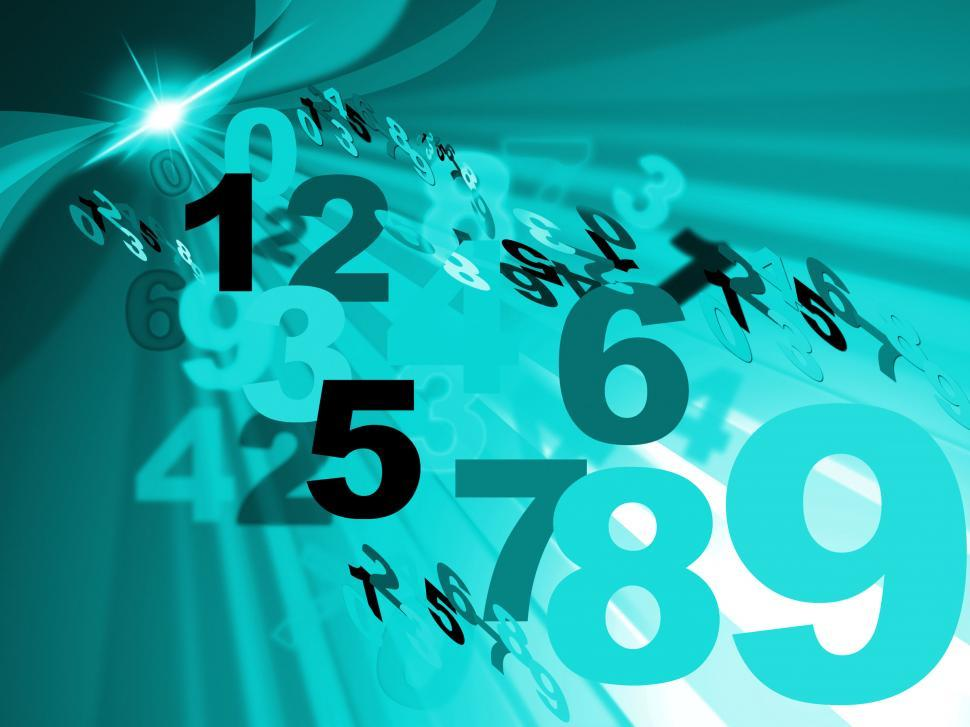 Download Free Stock HD Photo of Background Numbers Shows Template Counting And Digits Online