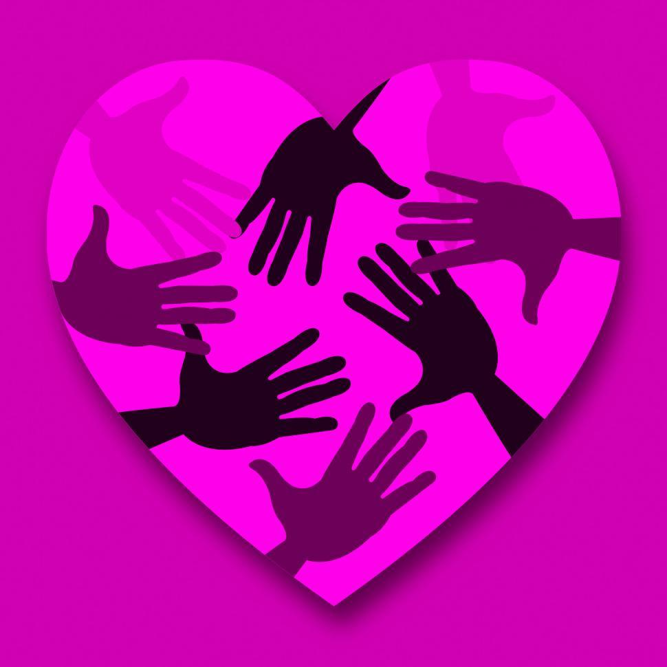 Download Free Stock HD Photo of Hands Pink Means Valentines Day And Affection Online