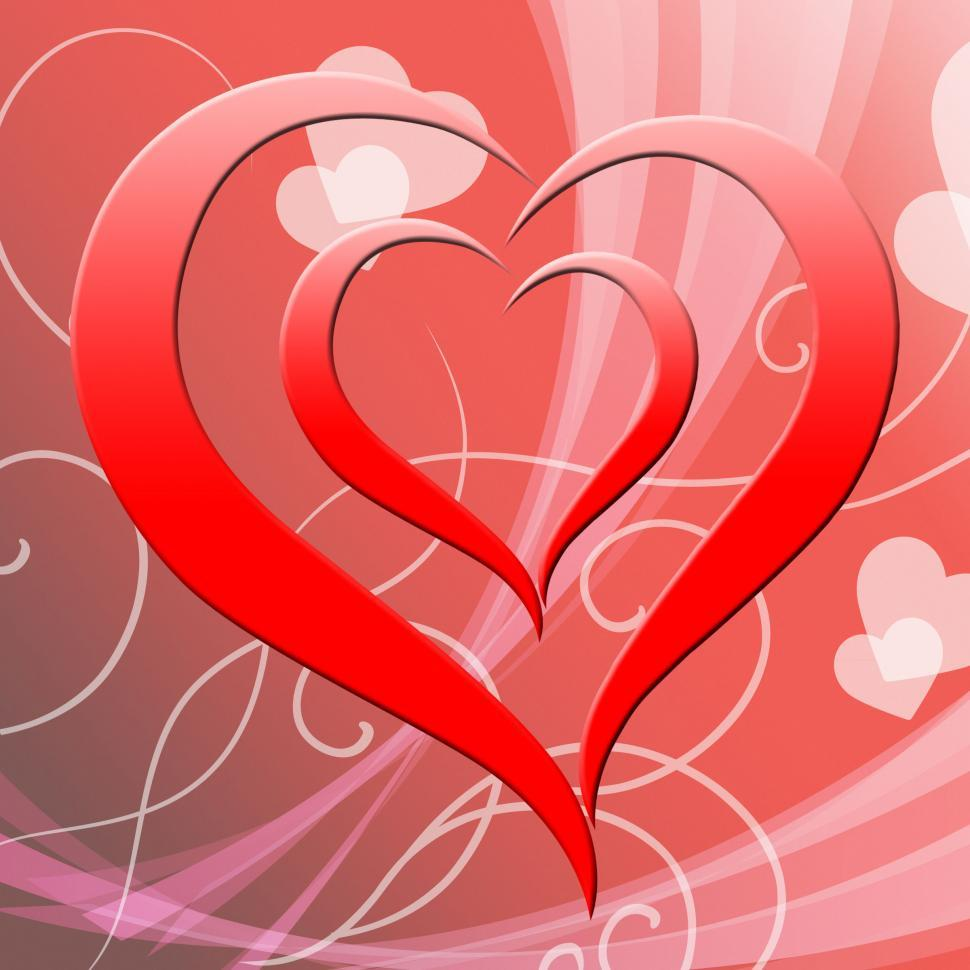 Download Free Stock HD Photo of Heart Background Represents Valentine Day And Affection Online