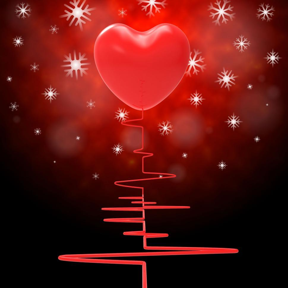 Download Free Stock HD Photo of Heart Pulse Represents Valentine s Day And Electro Online