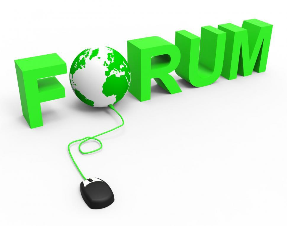 Download Free Stock HD Photo of Global Internet Shows World Wide Web And Chat Online
