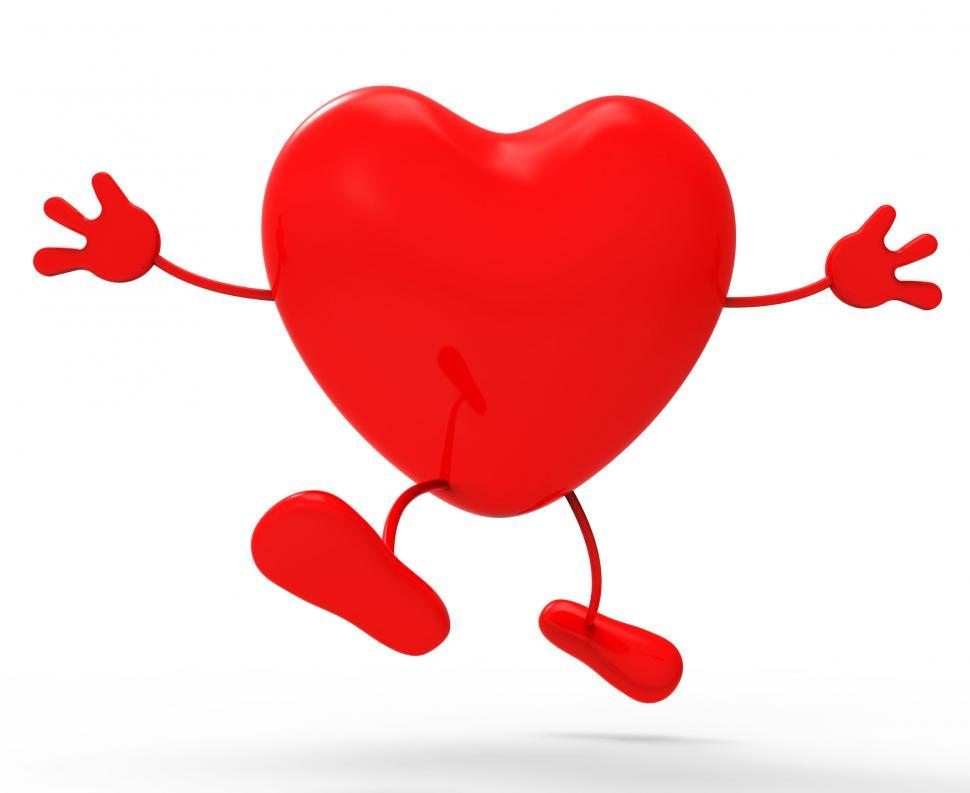 Download Free Stock HD Photo of Heart Character Means Valentine s Day And Affection Online