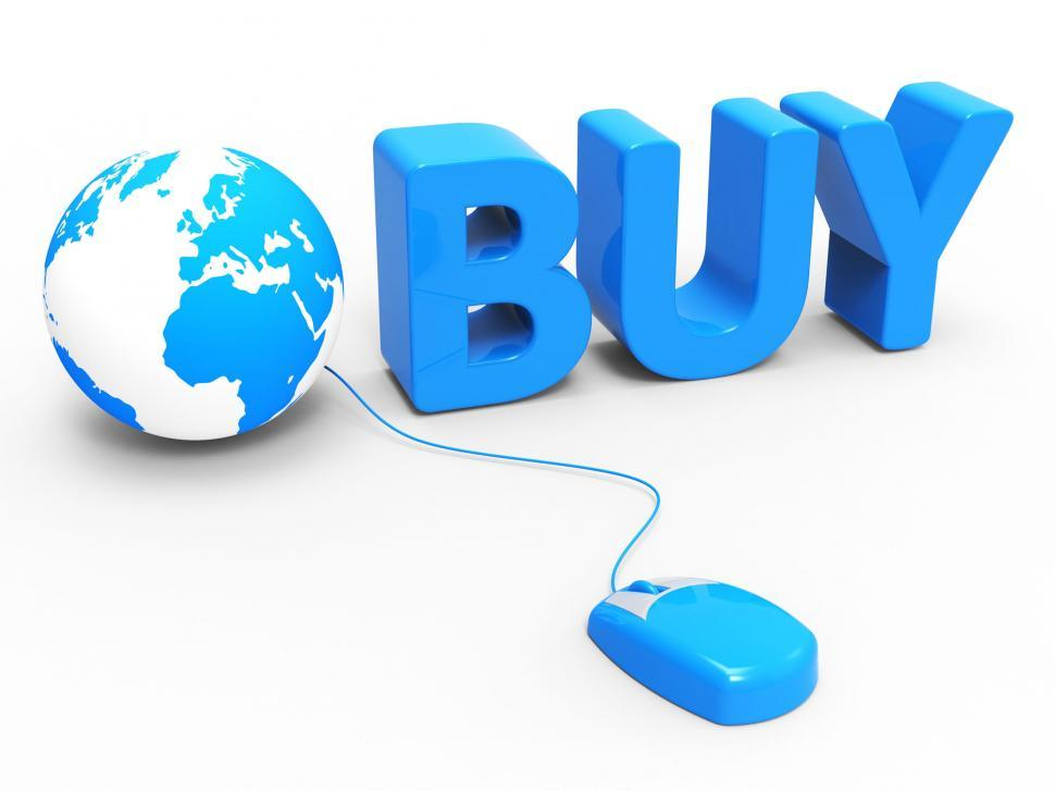 Download Free Stock HD Photo of Internet Buy Represents World Wide Web And Retail Online