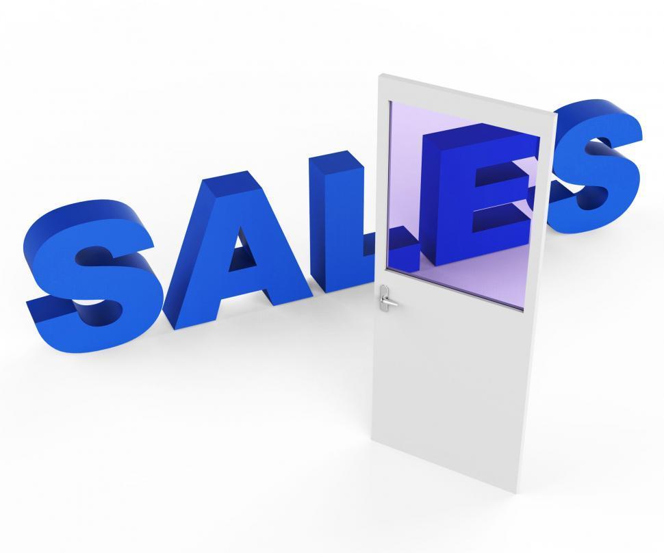 Download Free Stock HD Photo of Sales Door Represents Doorways E-Commerce And Doorframe Online