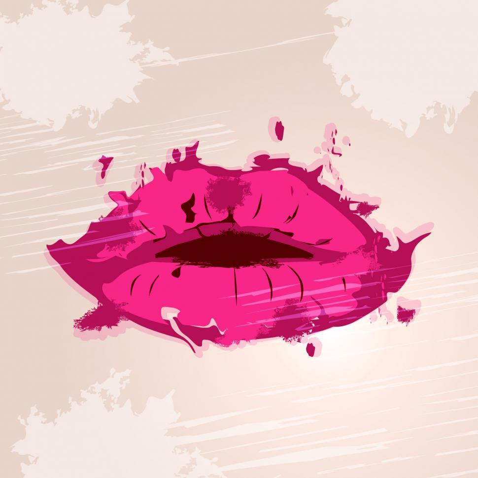 Get Free Stock Photos of Pink Lips Means Make Up And Beauty