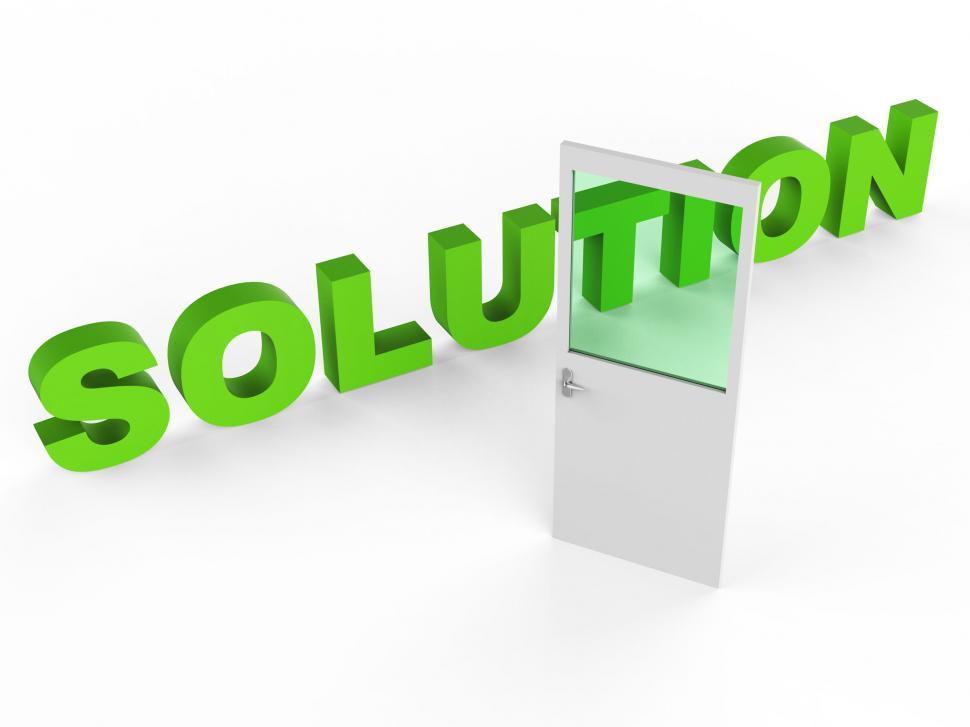 Download Free Stock HD Photo of Solution Door Represents Resolution Doorframe And Achievement Online
