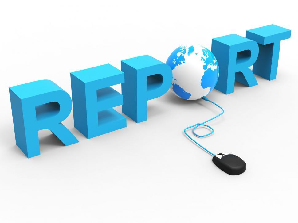 Download Free Stock HD Photo of Global Report Represents World Wide Web And Analysis Online