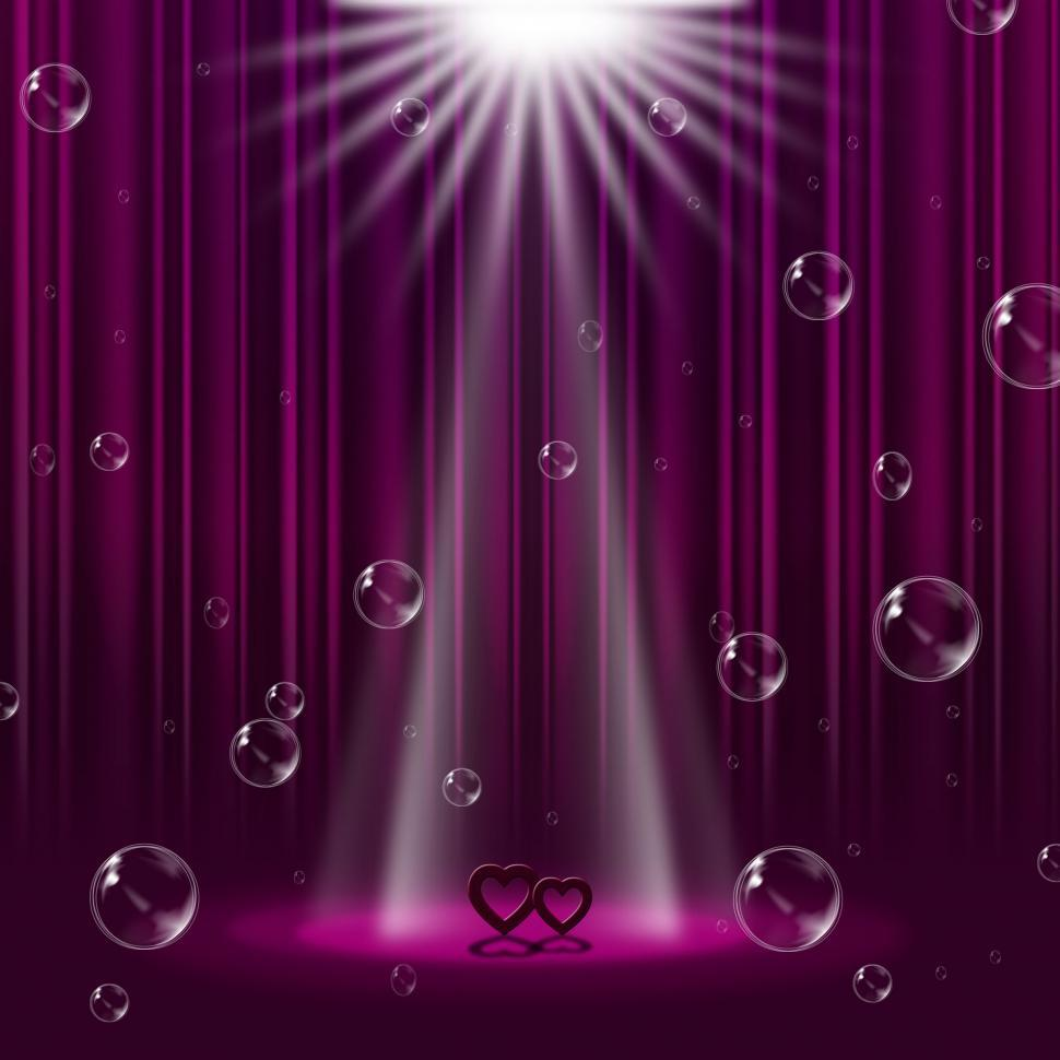 Download Free Stock HD Photo of Hearts Mauve Indicates Lightsbeams Of Light And Entertainment Online