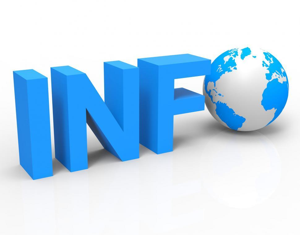 Download Free Stock HD Photo of World Info Shows Knowledge Globalisation And Information Online