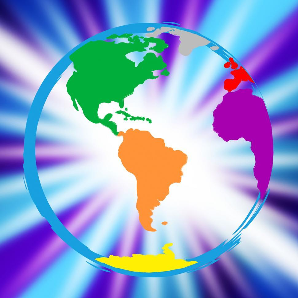 Download Free Stock HD Photo of Global Globe Represents Vibrant Planet And Globalisation Online