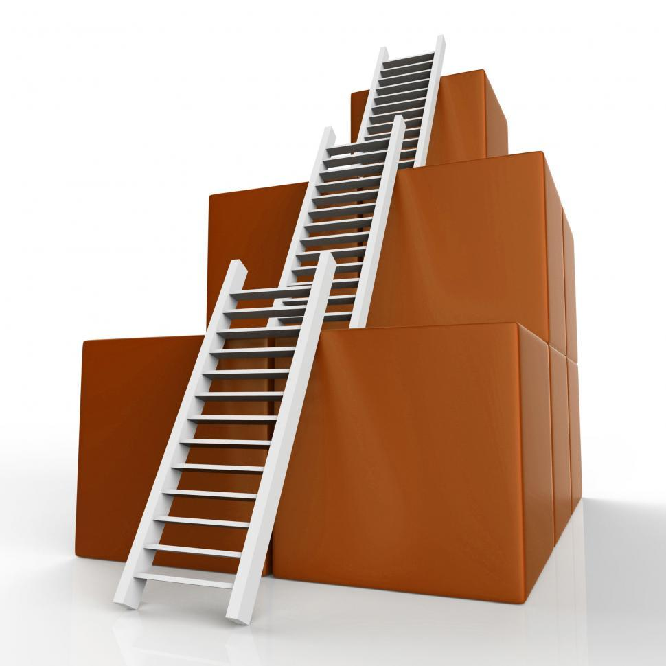 Download Free Stock HD Photo of Success Ladders Shows Succeed Victor And Increase Online