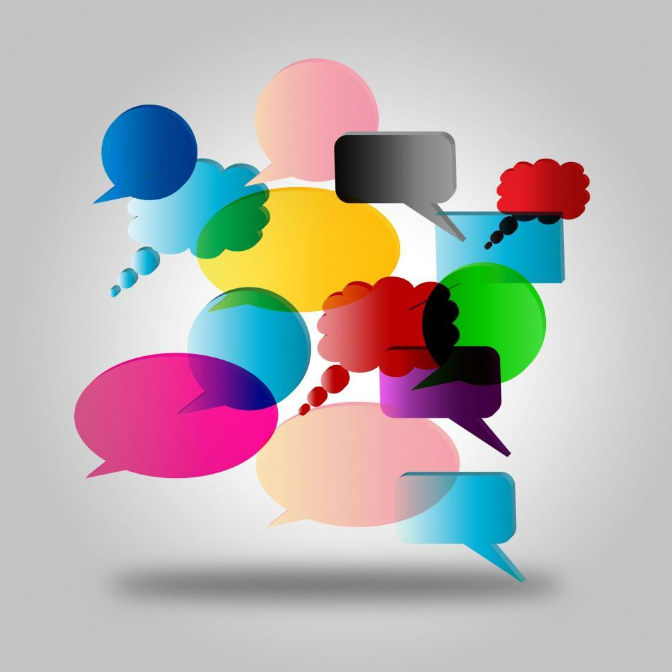 Download Free Stock HD Photo of Speech Bubble Means Talk Gossip And Explain Online