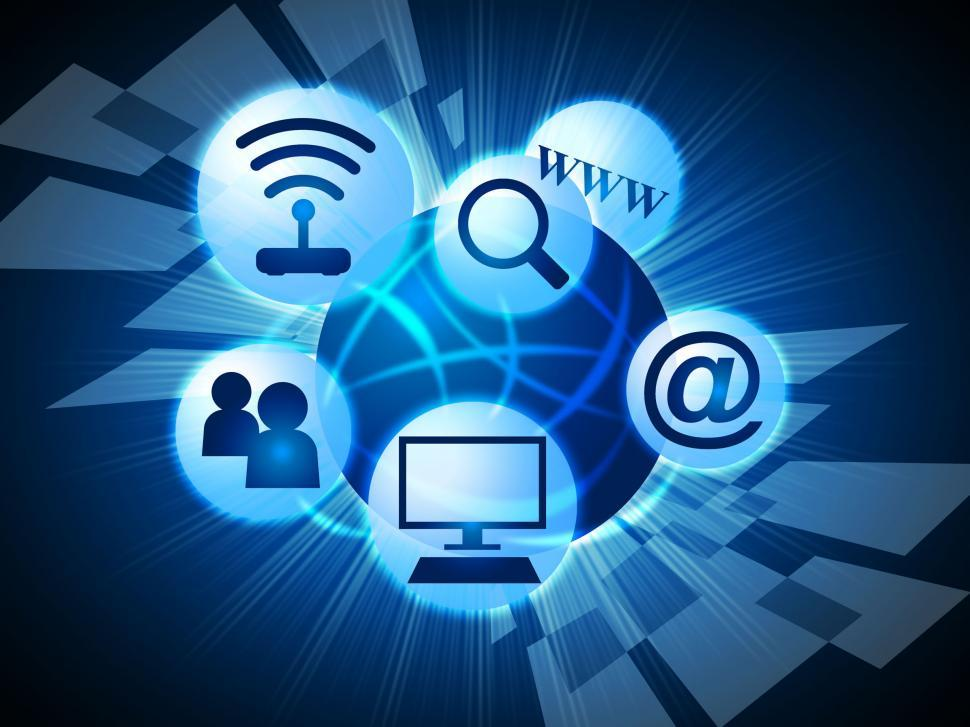 Download Free Stock HD Photo of Social Media Means World Wide Web And Communicate Online